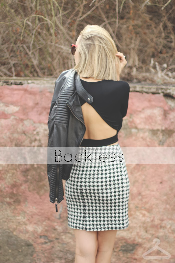 teenvogue, Priscila Betancort, blog de moda, mythe, top negro, pata de gallo, falda temporada, casual look, Rocker, swarovski,
