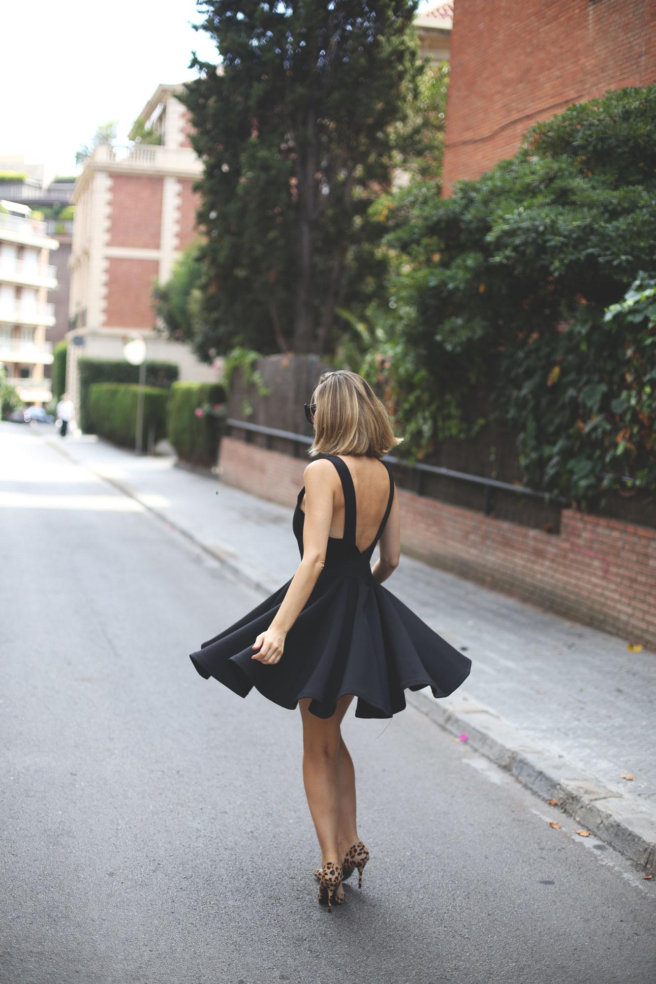 Vestido de noche de color negro