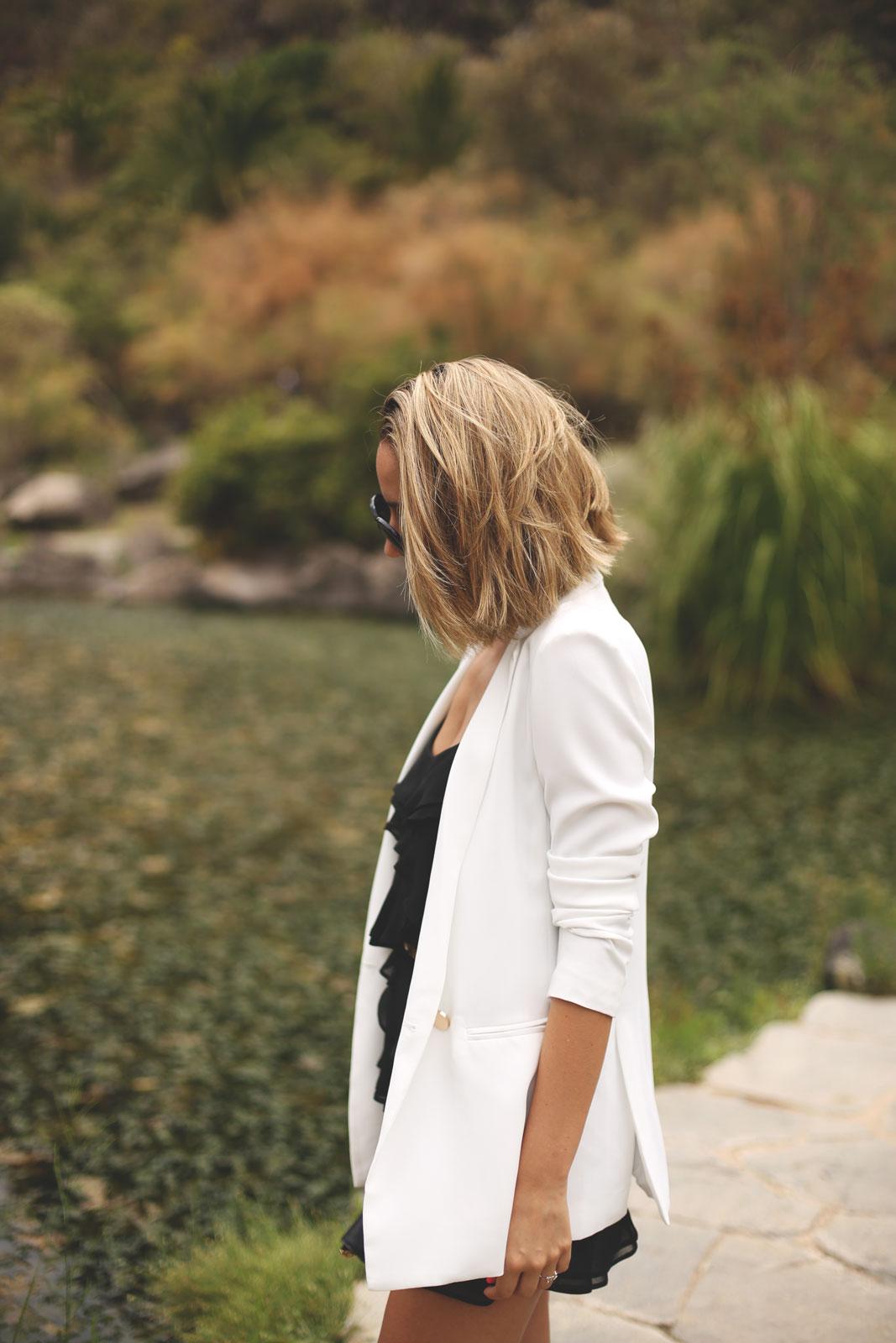 blazer blanco mujer