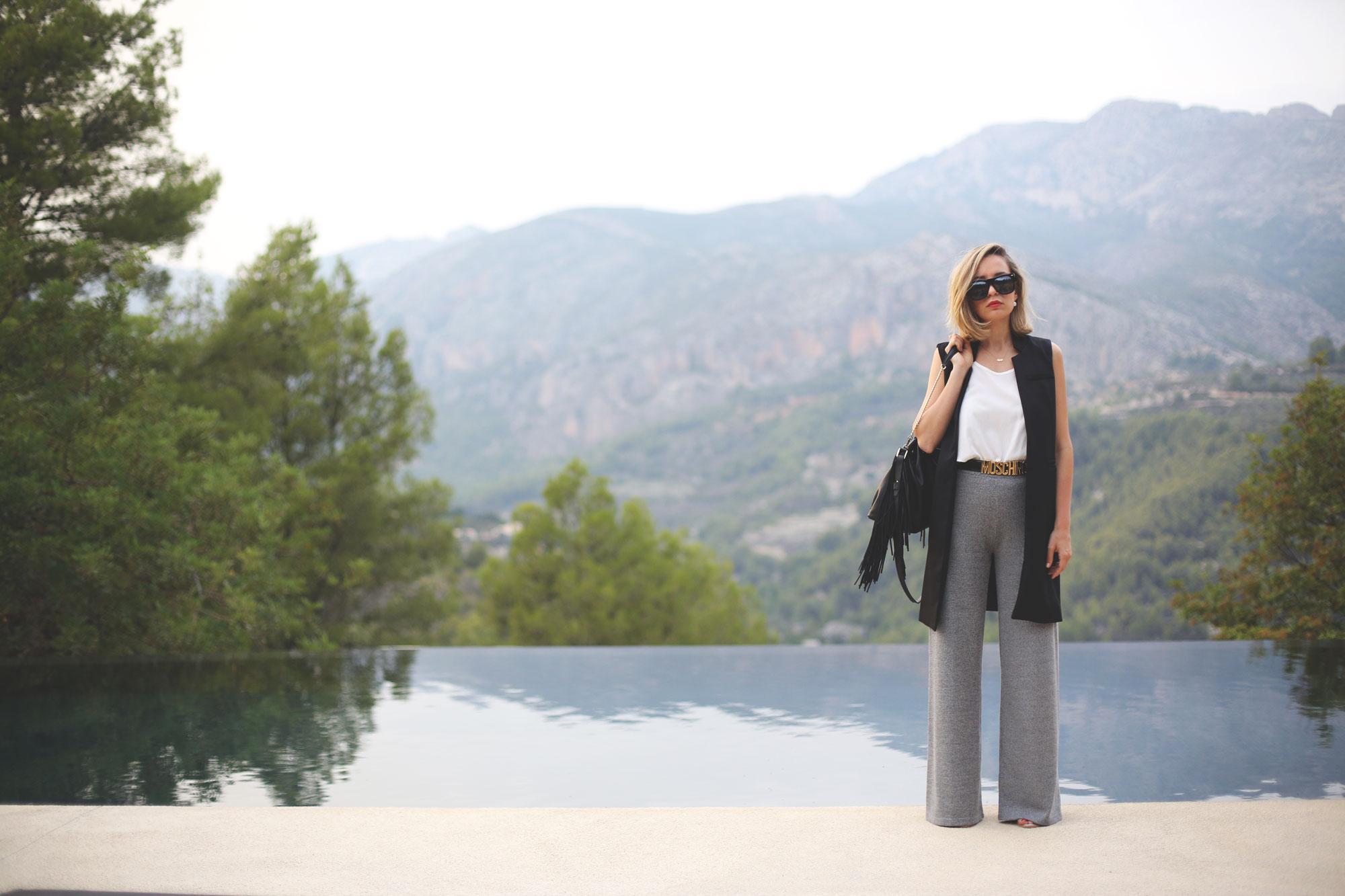 pantalones de campana mujer
