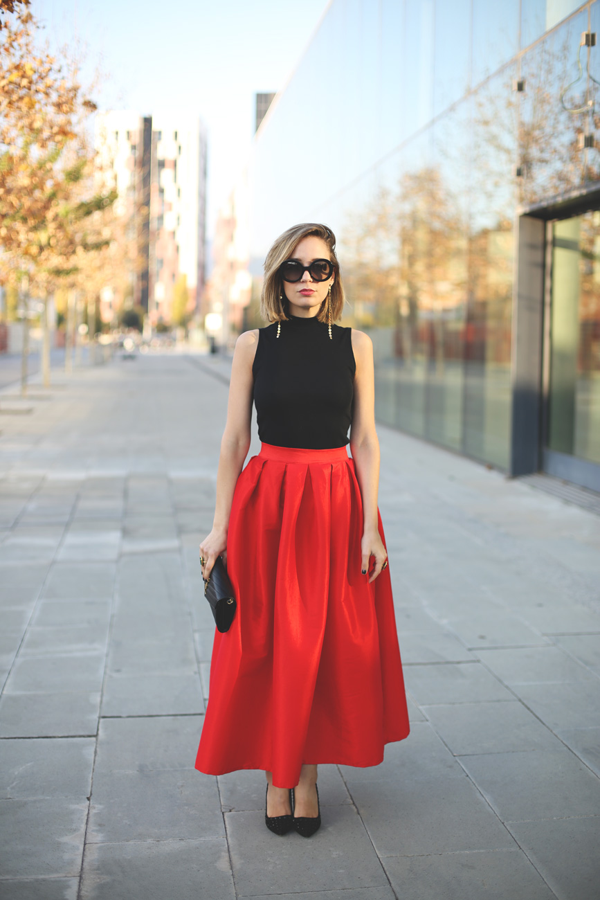 Como vestir una falda midi