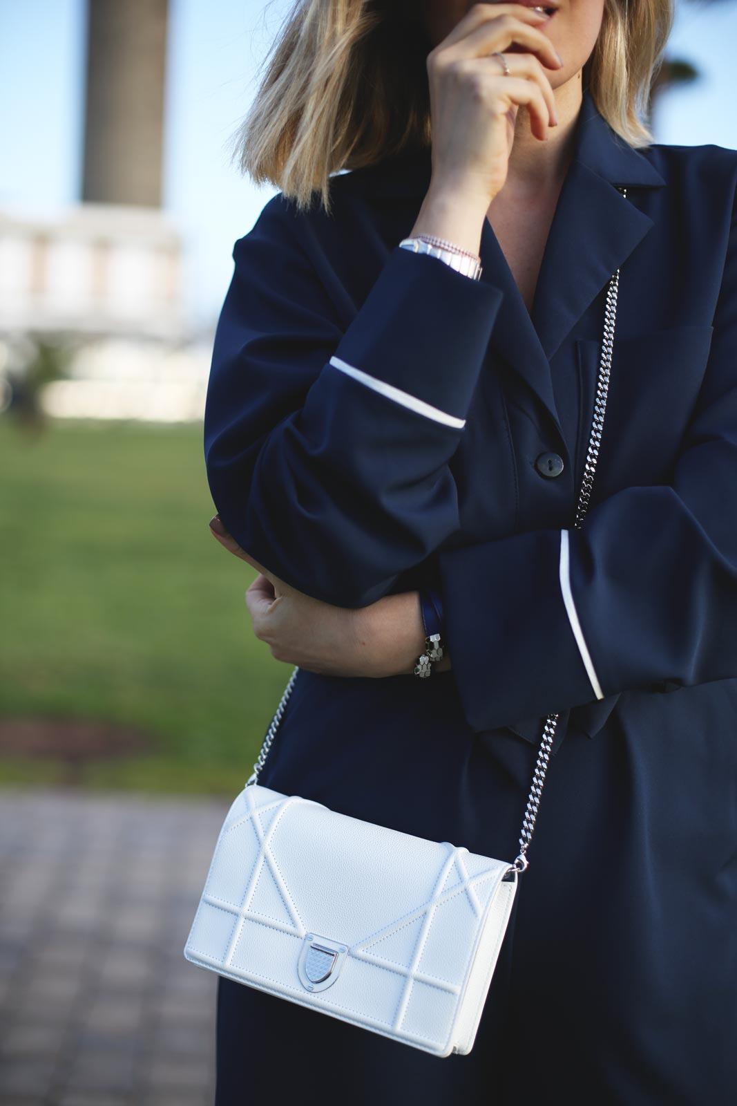 bolso blanco de Dior para mujer