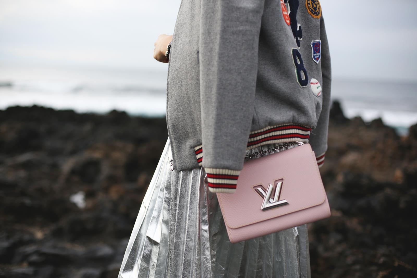 bolso twist rosa de louis vuitton