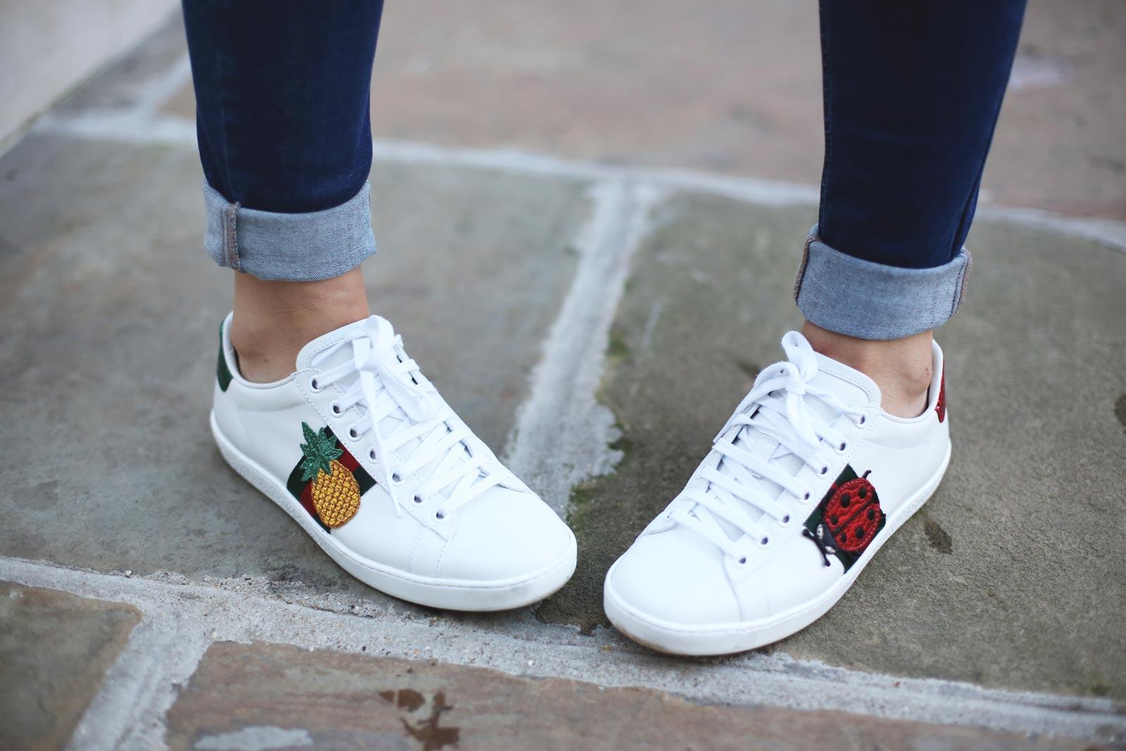 Zapatillas gucci con estampado