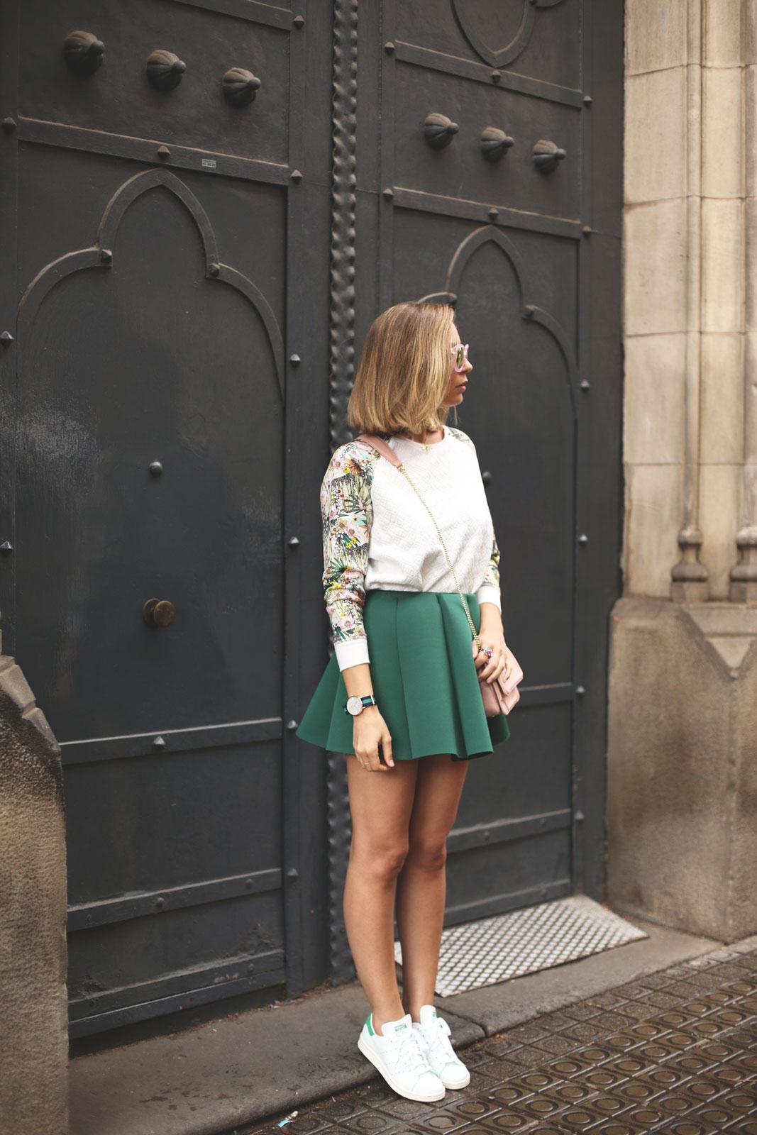 Falda de neopreno moda mujer