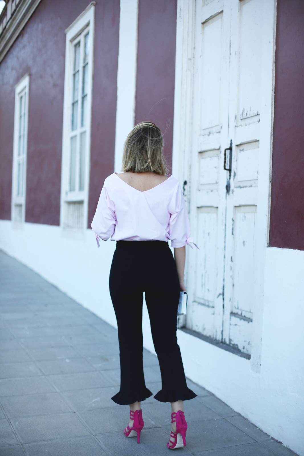 Pantalones con volantes de Zara