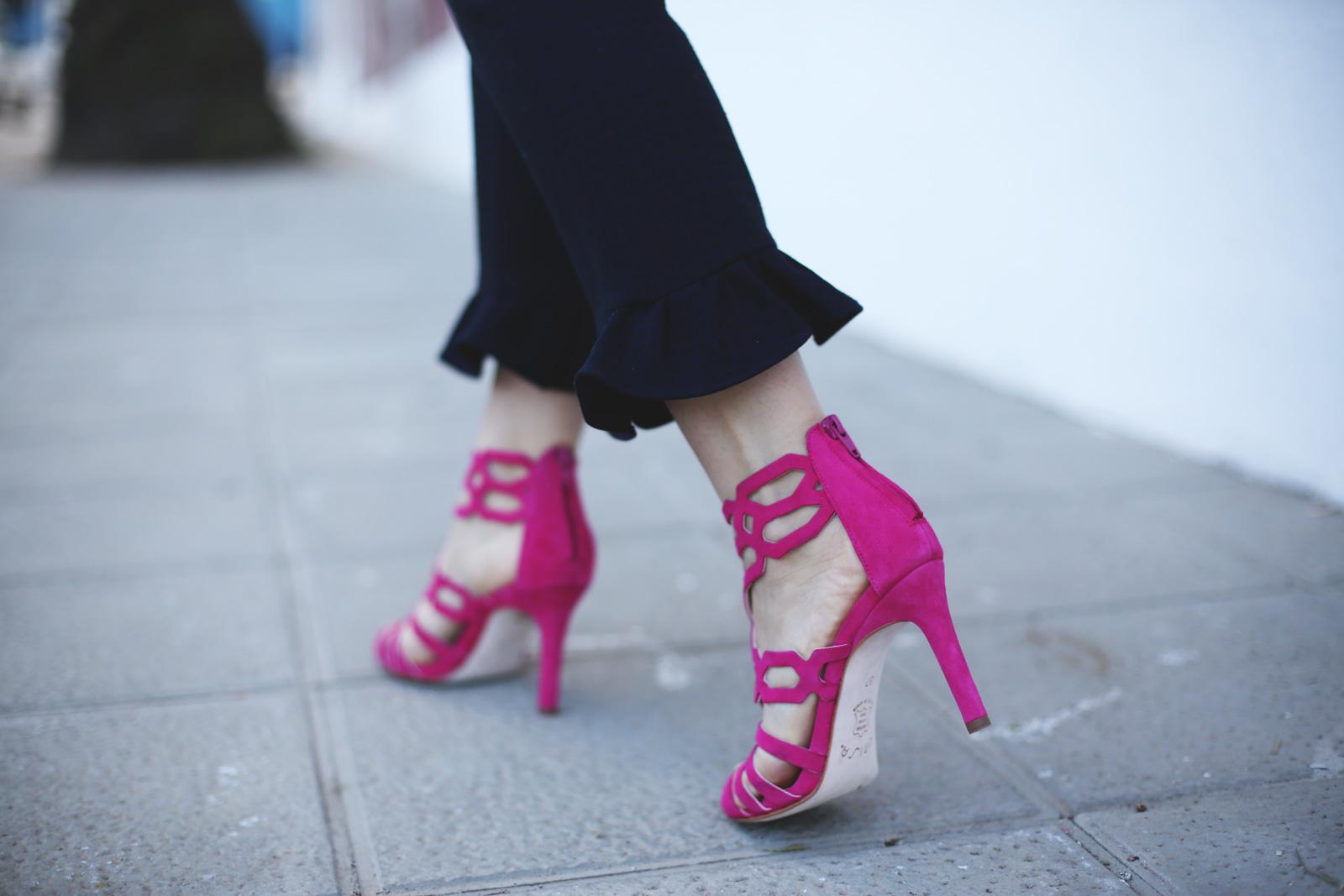 Sandalias moda fucsia de Unisa
