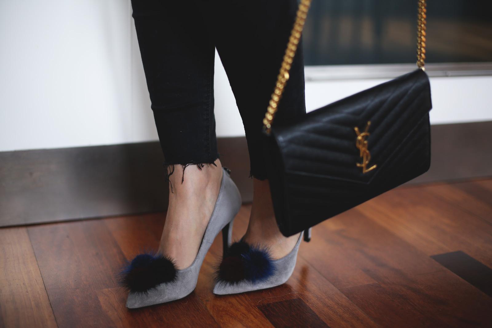 zapatos pompones para mujer