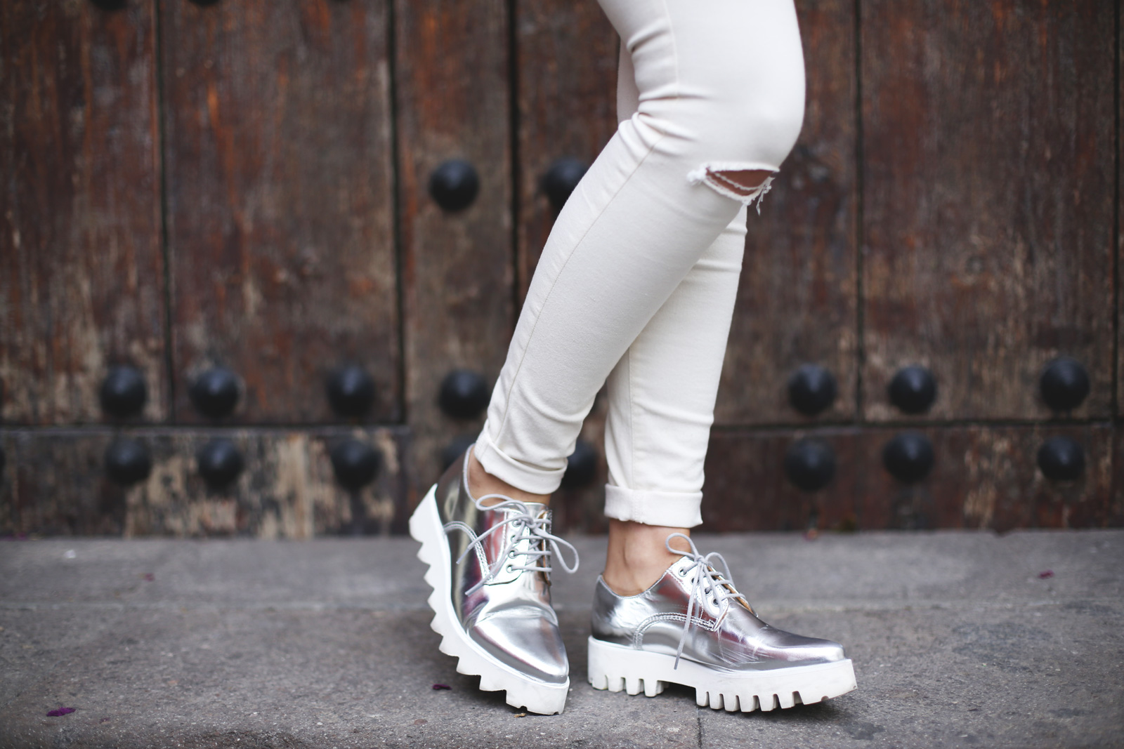 zapatos de moda mujer color plata