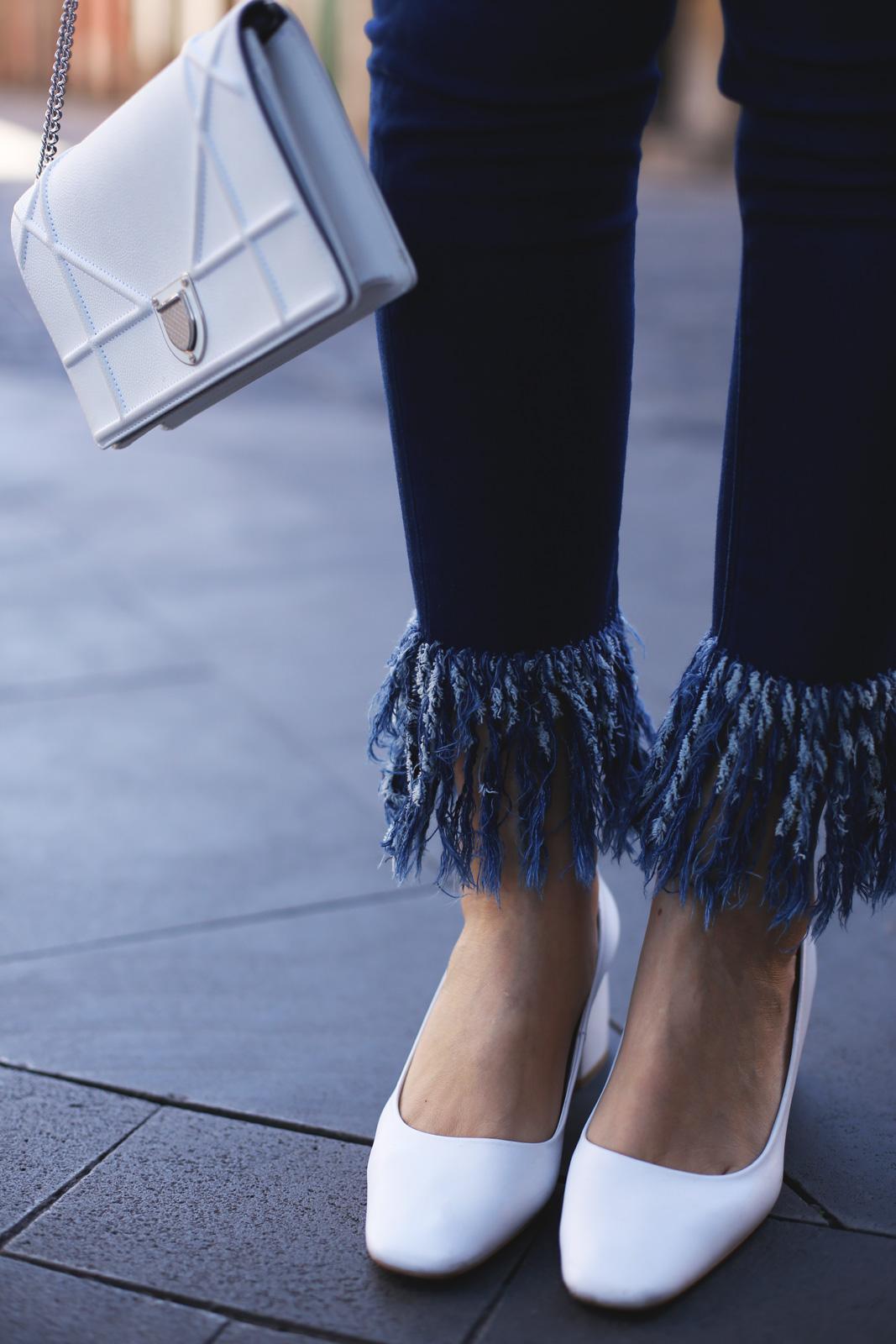 Jeans flecos de mujer