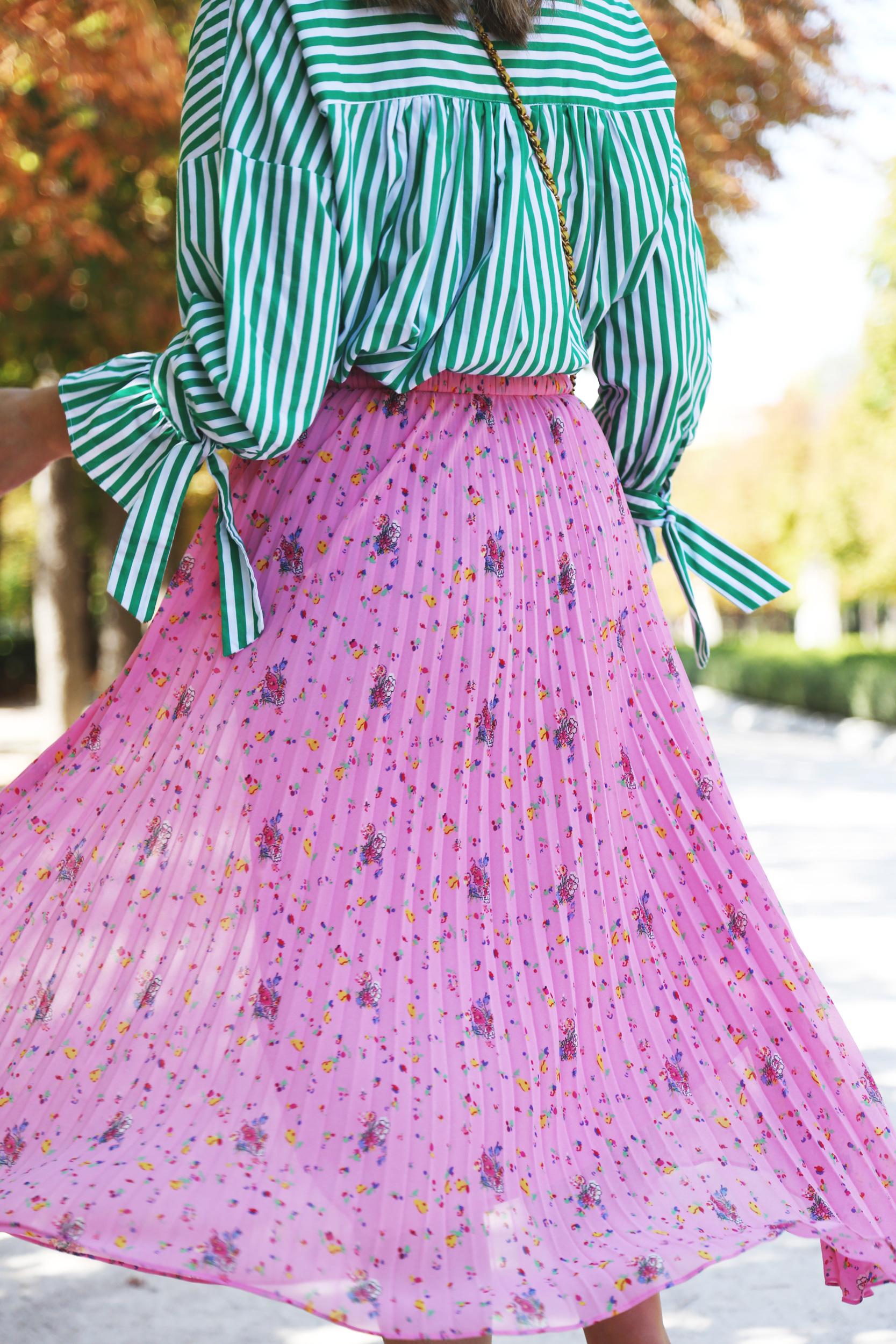falda rosa estampada