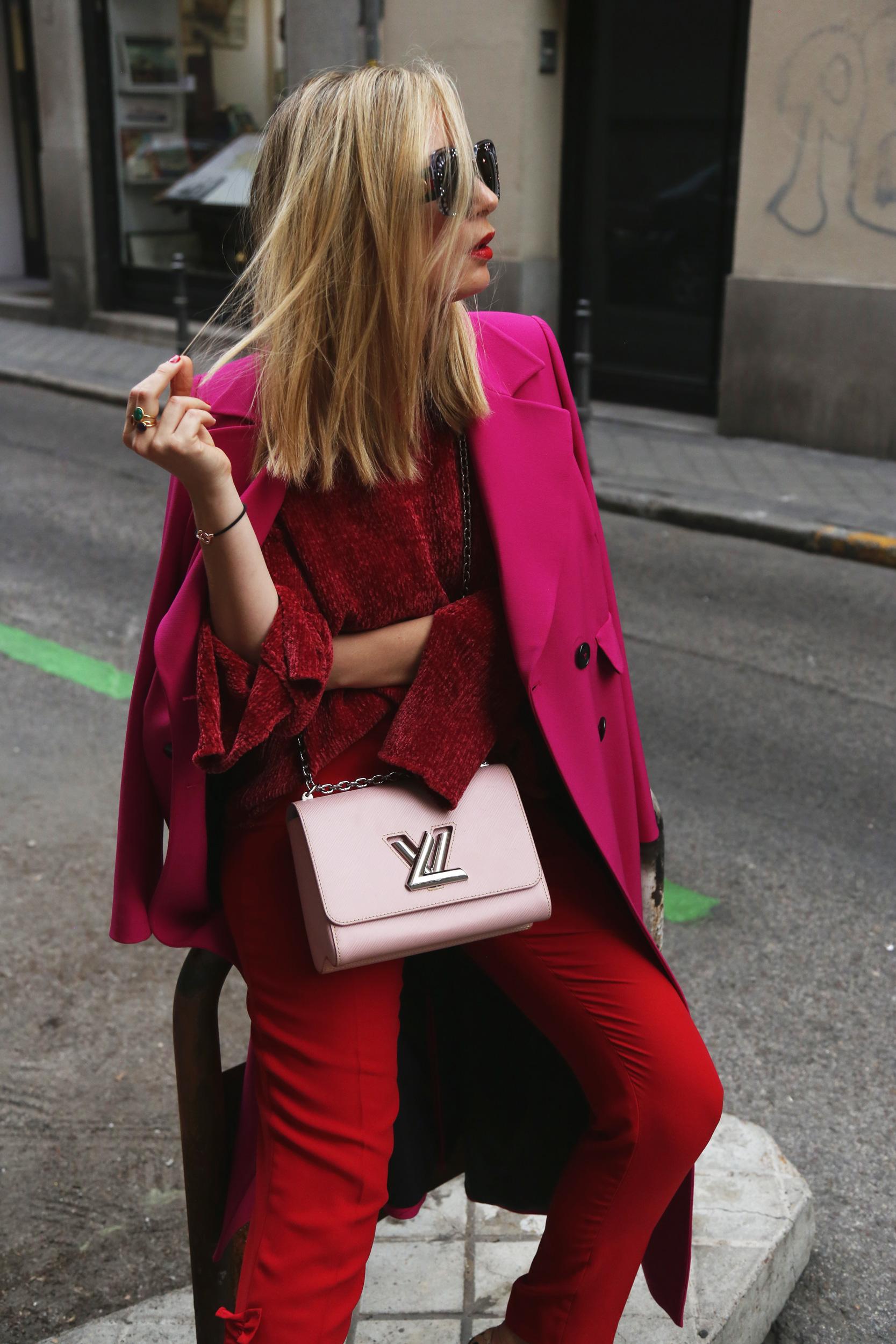 Maxi abrigo rosa