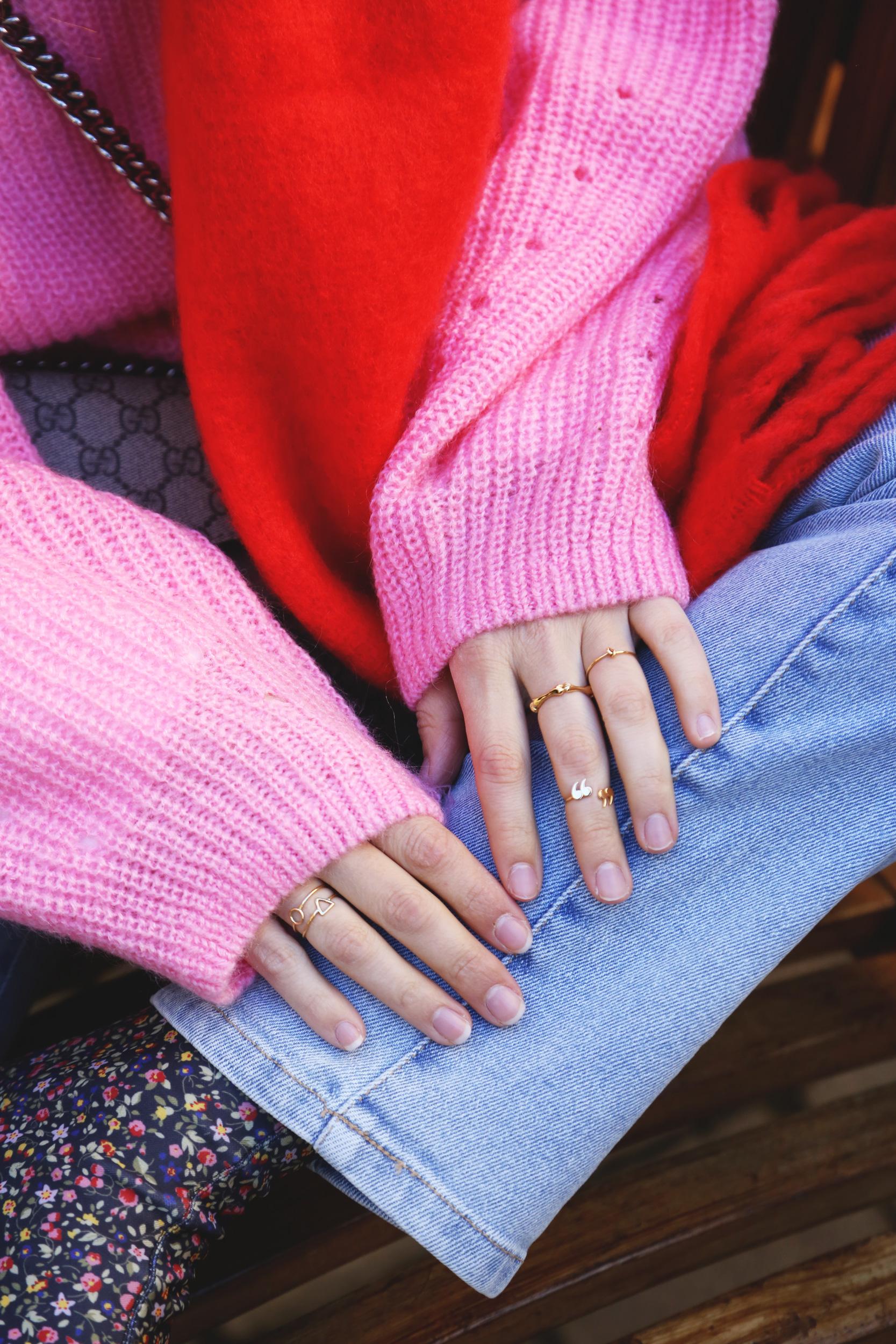 mini anillos de oro moda