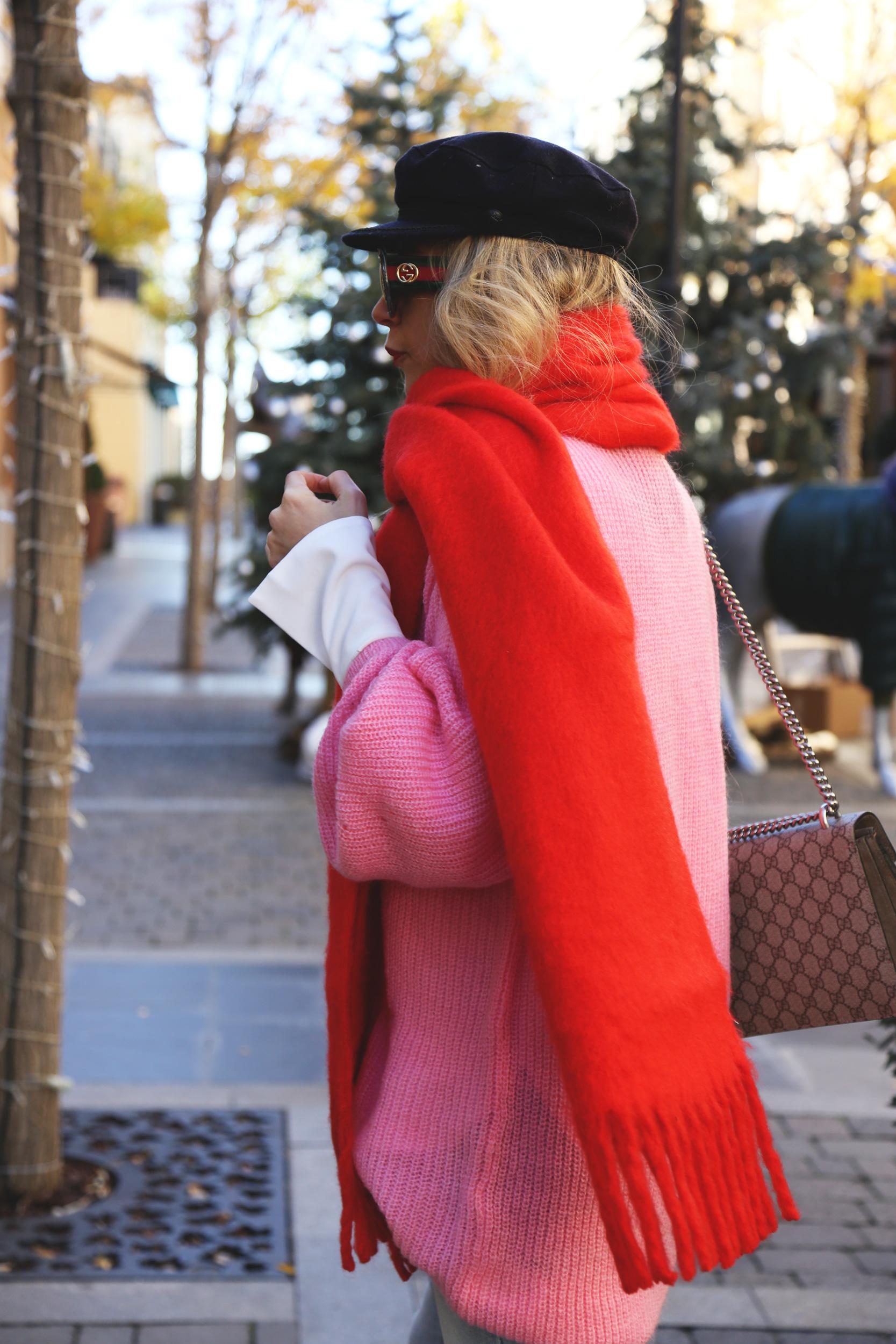 maxi bufanda roja invierno