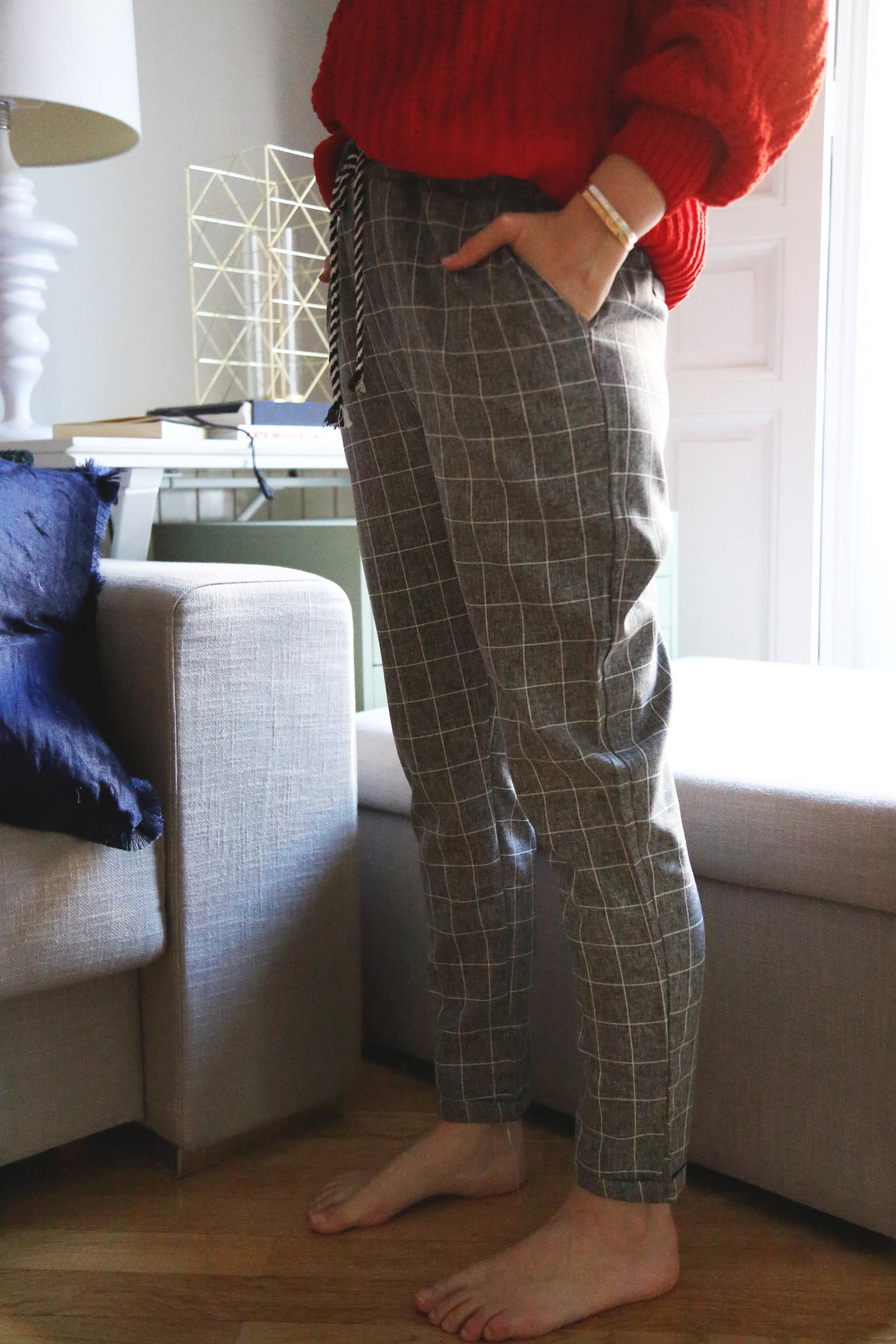 pantalon de cuadros tendencia moda mujer