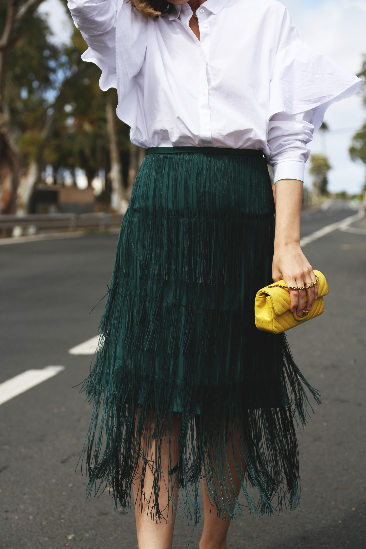 Faldas de flecos moda
