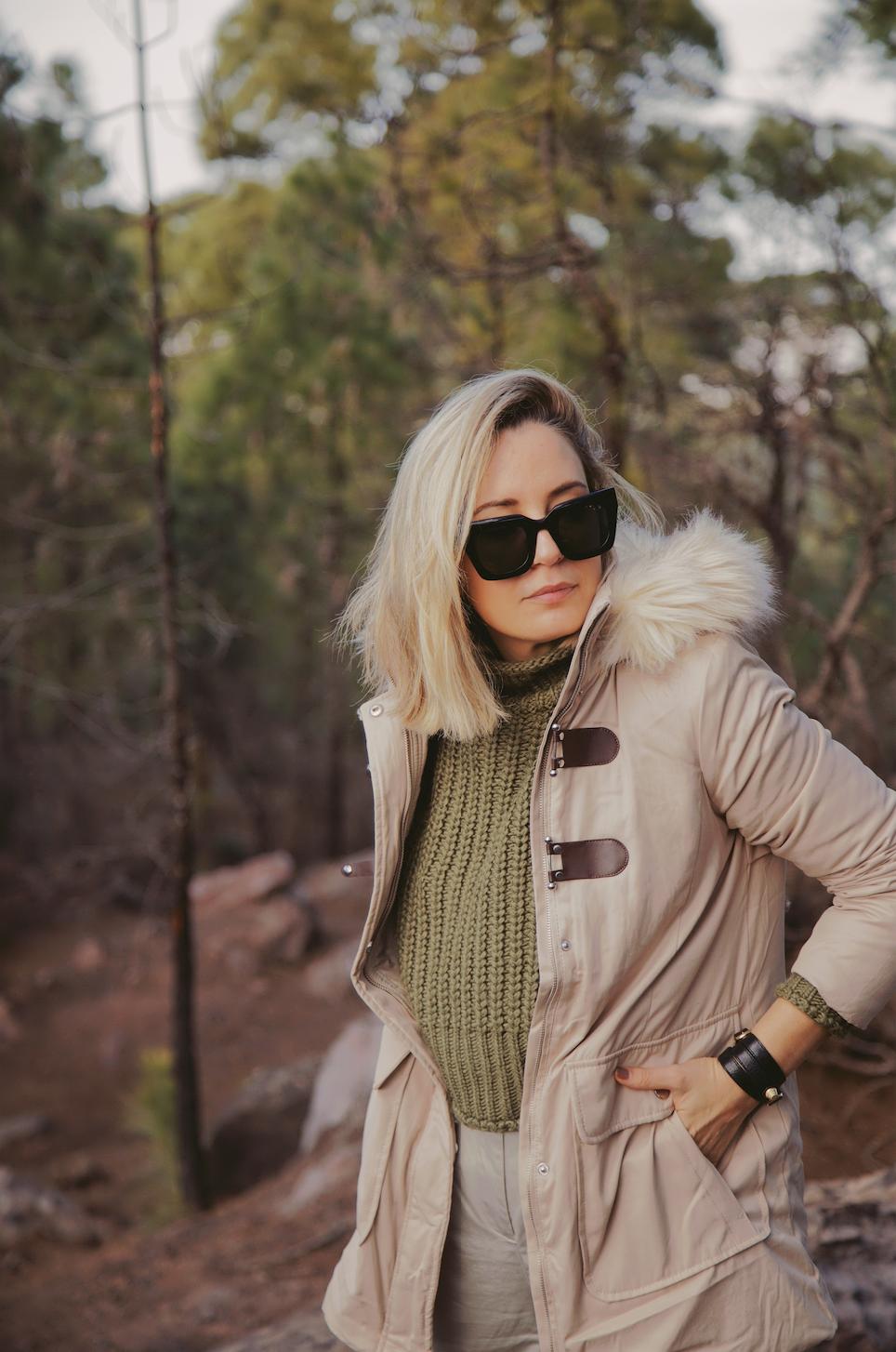 abrigo de mujer para el frío